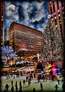 Bringing Prints - Rockefeller Center by Moonlight Print by Lee Dos Santos