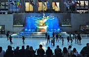 Hallmark Metal Prints - Rockefeller Center Skating Rink Metal Print by Allen Beatty