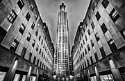 Light And Shadows Framed Prints - Rockefeller Centre Framed Print by John Farnan