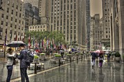 Rainy Day Photos - Rockefeller Rain by David Bearden