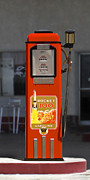 Strong Vertical Images Prints - Rocket 100 Gasoline - Tokheim Gas Pump Print by Mike McGlothlen