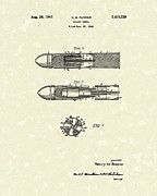 Shell Drawings - Rocket Shell 1947 Patent Art by Prior Art Design