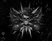 Rockin Skull Design Print by Suzi Nelson