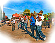 Trombone Digital Art Acrylic Prints - Rockin the Square 2 Acrylic Print by Steve Harrington