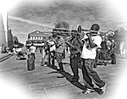 Jazz Band Art - Rockin the Square 3 by Steve Harrington
