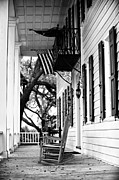 Wood Porch Posters - Rocking Chair on the Porch Poster by John Rizzuto
