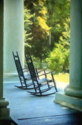 Rocking Chairs Digital Art - Rocking Chairs and Columns by Kathleen K Parker