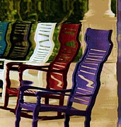 Rocking Chairs Mixed Media - Rocking Chairs by Anne-Elizabeth Whiteway
