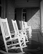 Rocking Chairs Framed Prints - Rocking Chairs Framed Print by Tina Miller