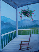 Front Porch Framed Prints - Rocking Framed Print by Glenda Barrett