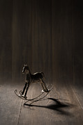 Dark Background Prints - Rocking Horse Print by Christopher and Amanda Elwell
