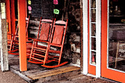 Rocking Chairs Photos - Rocking Red by Selicia Russo