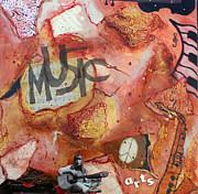Rock N Roll Mixed Media Originals - Rockit II by Victoria  Johns