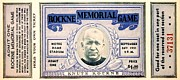Football Coach Posters - Rockne Memorial Game Poster by Benjamin Yeager