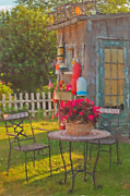 Yard Decorations Posters - Rockport Garden Poster by Joann Vitali