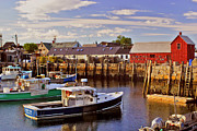 Rockport Metal Prints - Rockport Harbor 2 Metal Print by Joann Vitali