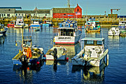 Boston Ma Prints - Rockport Harbor MA Print by David Simpson