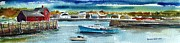 Millbury Painting Prints - Rockport Harbor Print by Scott Nelson