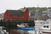 Christiane Schulze Acrylic Prints - Rockport Inner Harbor With Lobster Fleet And Motif No.1 Acrylic Print by Christiane Schulze
