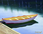 Quietude Paintings - Rockport Quietude by JJ Long