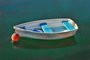 Calm Waters Prints - Rockport Row Boat Print by Joann Vitali
