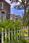 Picket Fence Prints - Rockport Summer Print by Joann Vitali