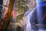 Falling Water Photos - Rocks and water by Elena Elisseeva