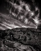 Decorative Prints - Rocks Clouds Water Print by Bob Orsillo