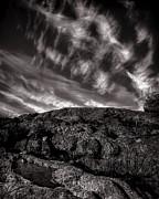 Rocks Clouds Water Print by Bob Orsillo