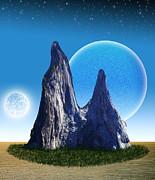 Rocks In The Desert Print by Piero Lucia