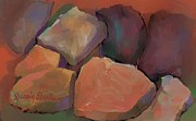 Dominant Colors Framed Prints - Rocks of Stone Framed Print by Dessie Durham