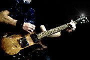 Guitar Photo Originals - Rockstar playing solo on guitar by Tommy Hammarsten