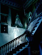 Haunted Mansion  Digital Art Posters - Rockwood stairwell  Poster by Tom Straub