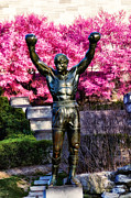 Cherry Blossoms Posters - Rocky Among the Cherry Blossoms Poster by Bill Cannon