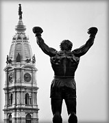 Rocky Balboa Prints - Rocky and Philadelphia Print by Bill Cannon