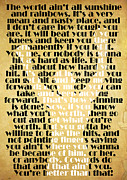 Rocky Balboa Quote Poster Print by Pete Baldwin