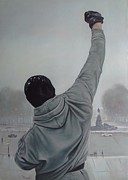 Stallone Paintings - Rocky Balboa by Riard