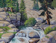 Rocky Falls Of Sonora Pass Print by Cheryl Bloomfield