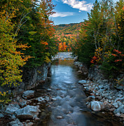 Nh Framed Prints - Rocky Gorge Autumn Framed Print by Thomas Schoeller