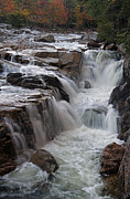 New England Fall Photos Prints - Rocky Gorge Waterfall Print by Juergen Roth