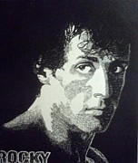 Sylvester Stallone Drawings - Rocky by Hunter Pope