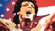 Stallone Paintings - Rocky by Hussein El Kaissy