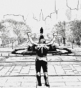 Art Museum Prints - Rocky is Philadelphia Print by Bill Cannon