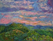 Knob Painting Prints - Rocky Knob Evening Print by Kendall Kessler