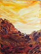 Acrylic Paintings - Rocky Landscape Ii by Teresa Wegrzyn