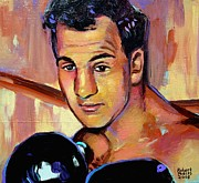 Boxer Portrait Paintings - Rocky Marciano by Robert Phelps