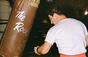 Rocky Marciano Vs. Heavy Bag Print by Retro Images Archive