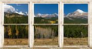 Picture Window Frame Photos Art - Rocky Mountain Continental Divide Rustic Window View by James Bo Insogna