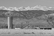 Colorado Nature Landscape Framed Prints - Rocky Mountain Country View Black and White Framed Print by James Bo Insogna