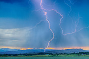 James Bo Insogna - Rocky Mountain Foothills Lightning Strikes 2 HDR